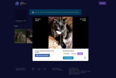 Web ayuda a corregir las fotos de baja calidad