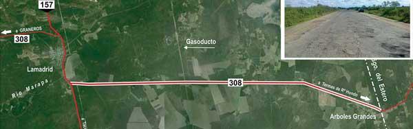Resultado de imagen para ruta 308 y 157