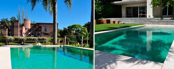Agua de piedra transforma la piscina en un spa en vivienda - Lucia la piedra piscina ...