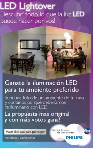 philips presenta led lightover un concurso para ganar la iluminacin con led del ambiente preferido del hogar