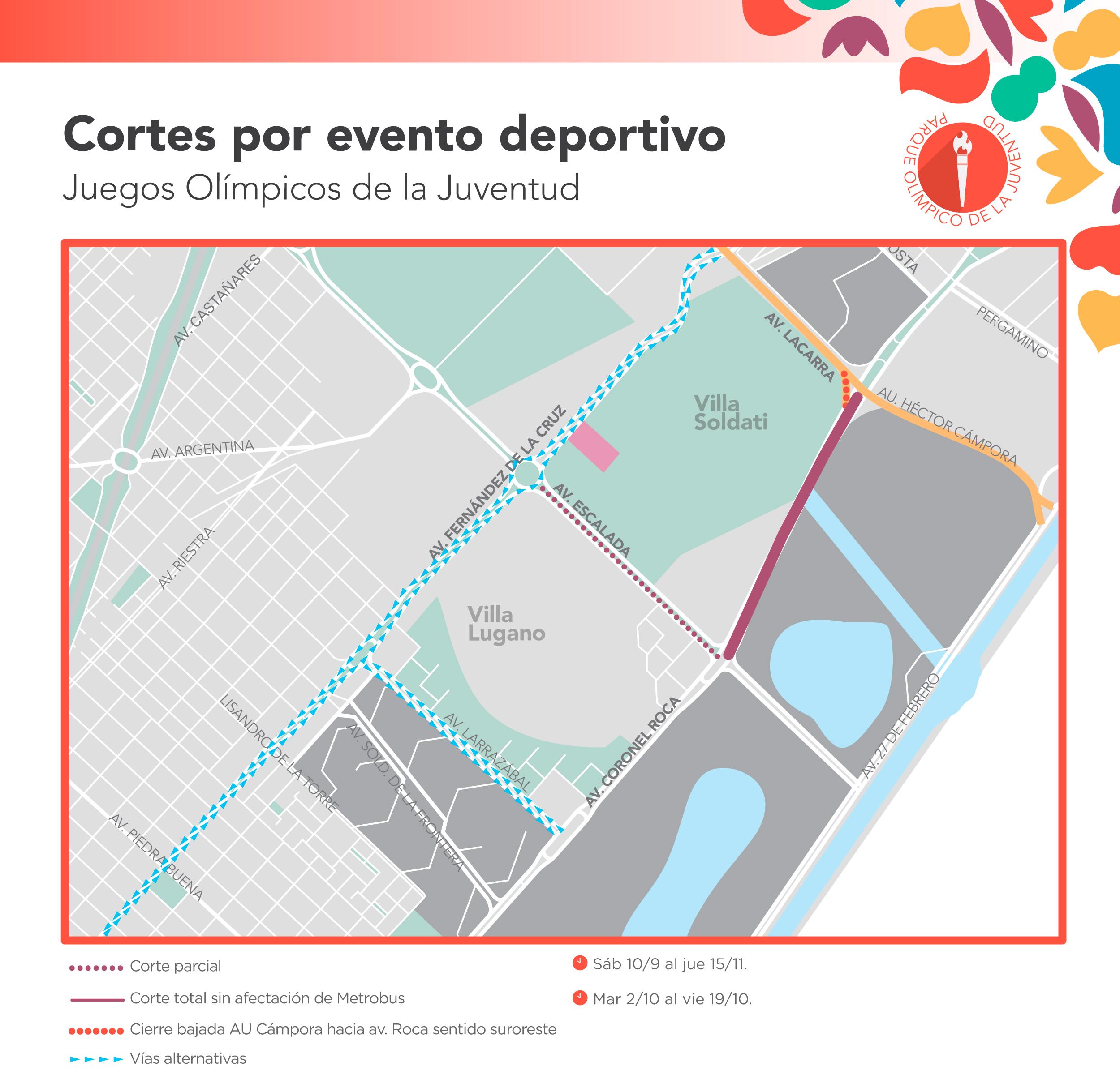 Como Seran Los Cortes De Transito Por Los Juegos Olimpicos De La