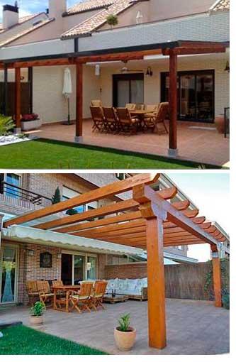 P rgolas en madera en vivienda - Pergolas de madera en sevilla ...