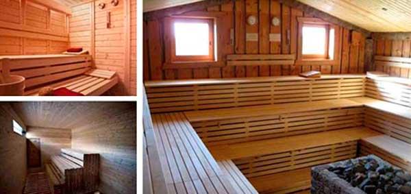 Construcci n con madera el sauna en casa en vivienda - Como hacer una sauna ...