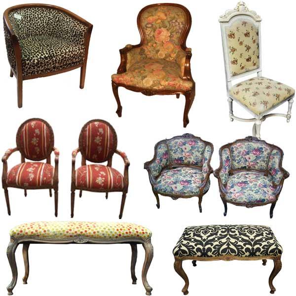 opciones de muebles con estampados en vivienda