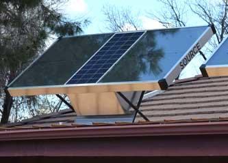 panel solar que permite obtener del aire hasta litros de agua al da