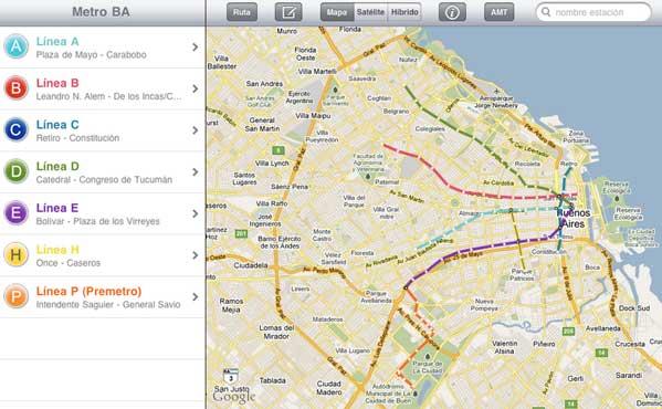 La Información Del Subte En Google Maps En Vivienda - Argentina subte map