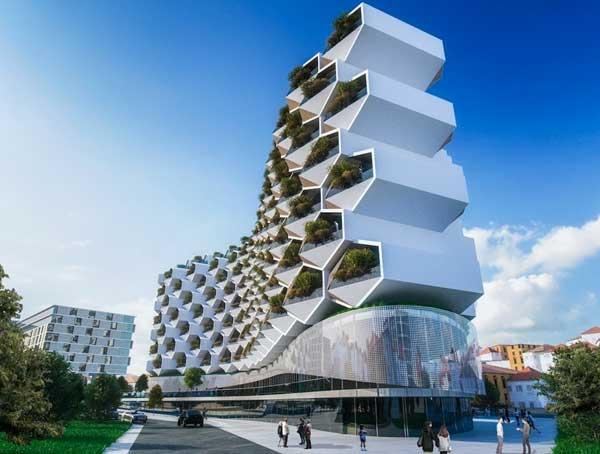 urban rural es un edificio pensado para formar parte de los entornos urbanos sin renunciar a la naturaleza que predomina en los entornos rurales